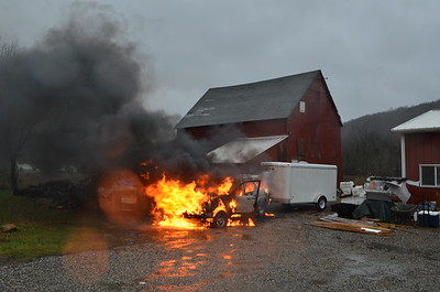 Vehicle Fire - Franklin, CT - 12.21.12