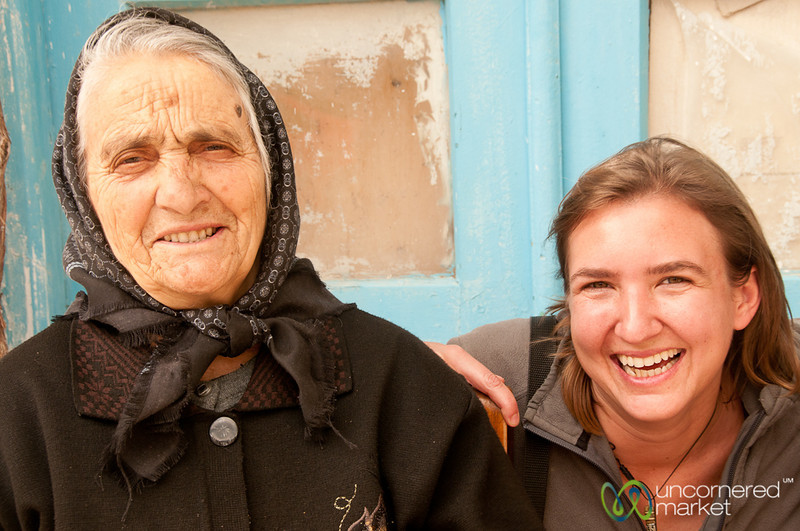 Audrey with Crete Grandmother - Greece