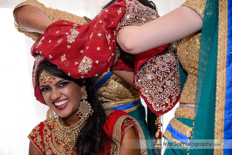 indian bride preparation at Hotel Shattuck Plaza in Berkeley