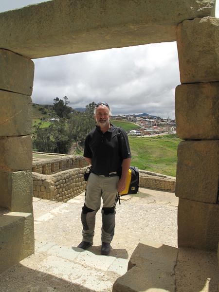 Jeff at Ingapirca Arch