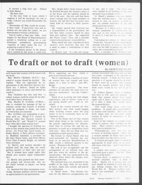 SoCal, Vol. 62, No. 43, November 23, 1970