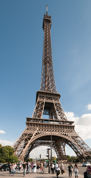 The Eiffel Tower, 320 meters tall, was built for the 1889 Exposition (World's Fair)