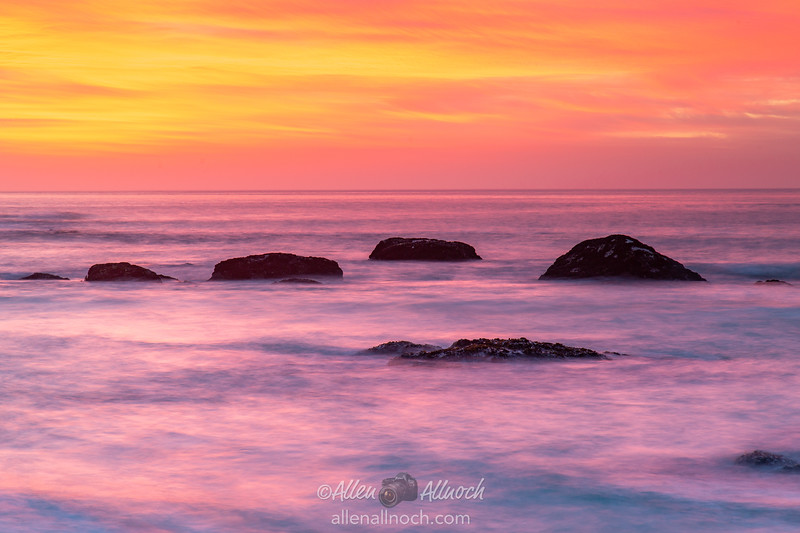 Colorful Sunset over South African Coast