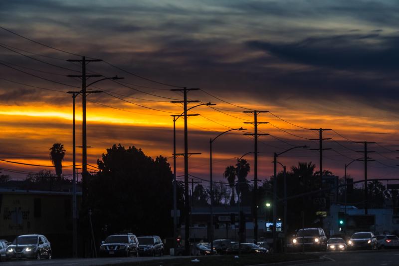 January 13 - Urban sunset oon Venice Blvd., Los Angeles.jpg