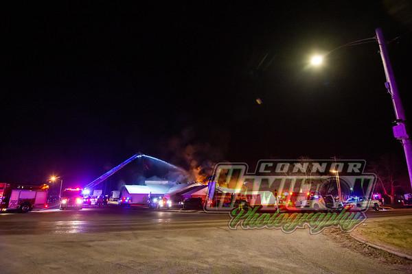 Deli Star 5th Alarm Fire - Fayetteville Il - 1/12/21
