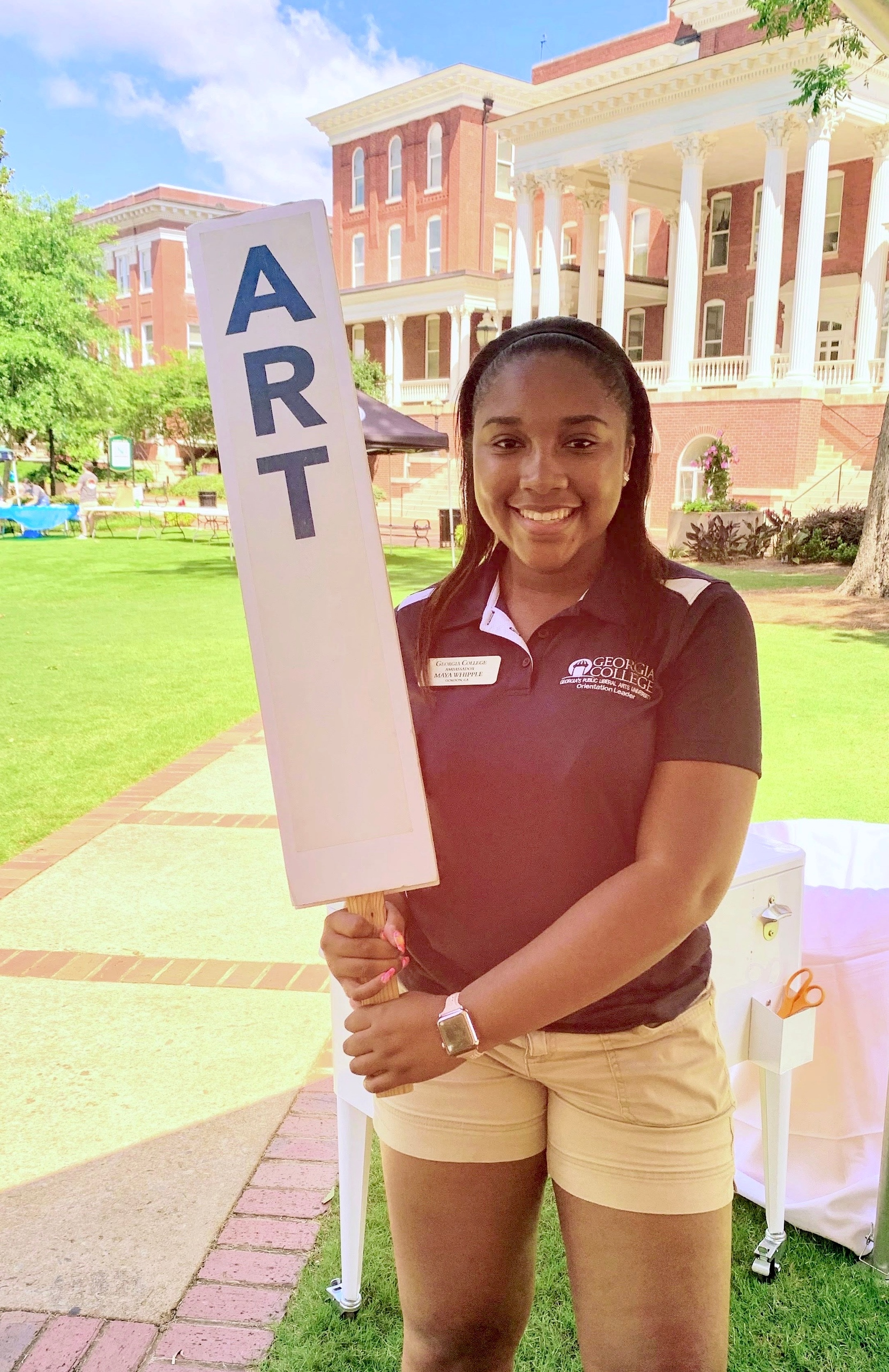 Maya Whipple served as an orientation leader.