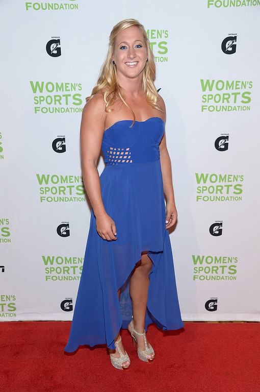 . NEW YORK, NY - OCTOBER 16:  Rugby player Deven Owsiany attends the 34th annual Salute to Women In Sports Awards at Cipriani, Wall Street on October 16, 2013 in New York City.  (Photo by Michael Loccisano/Getty Images for the Women\'s Sports Foundation)