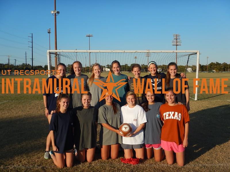 Fall 2015 Soccer Women's Champion Texas Theta