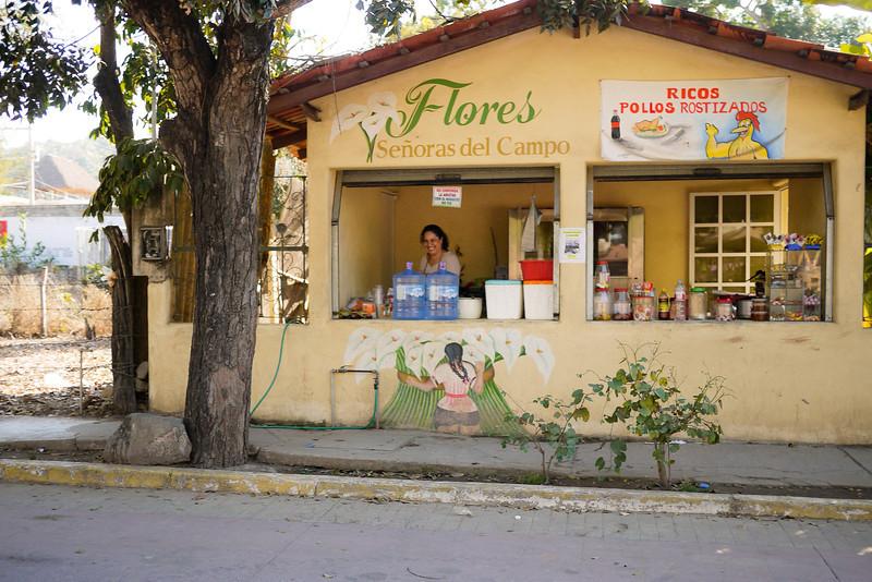 The chicken vendor in San Pancho, Mexico.