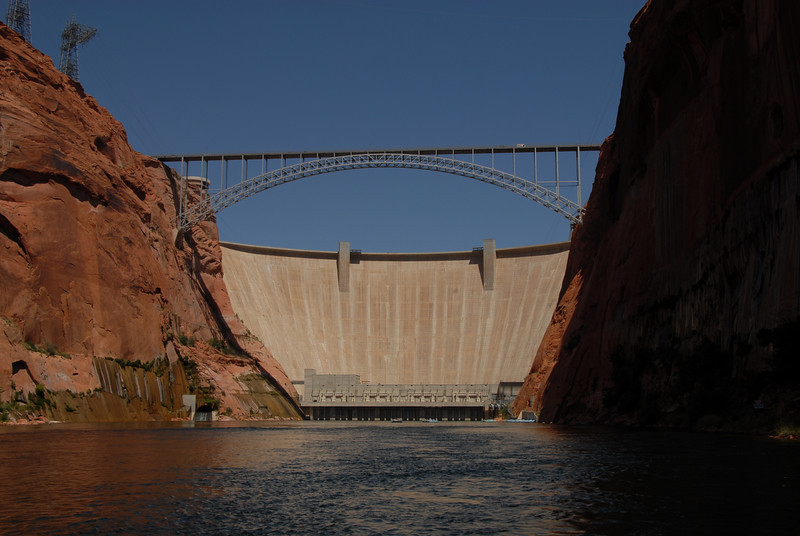 Lake Powell Dam at the Colorado River