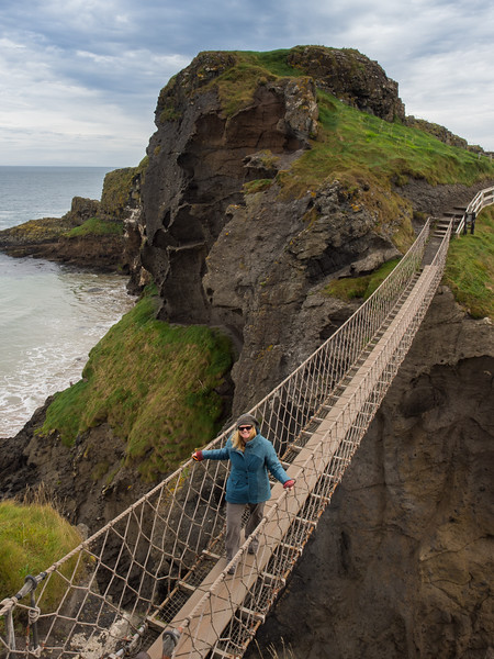 Deb on Carrick-a-Rede rope bridge.jpg