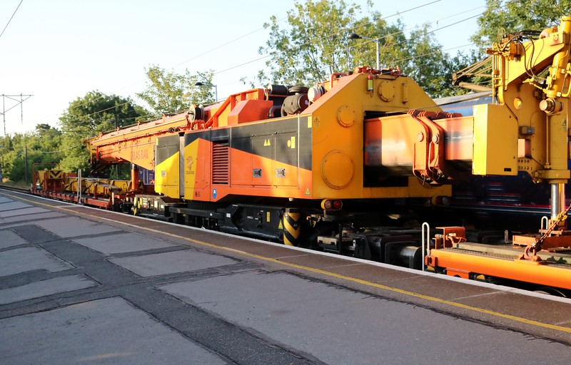 Colas Crane DRP81612 seen on 6z35 Peterborough-Hoo Jct passing Hertford North    29/06/18
