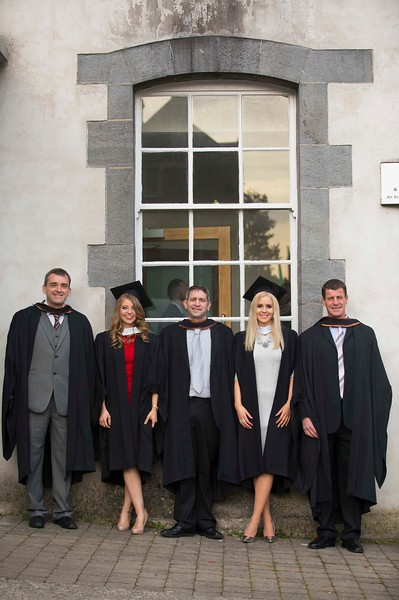 02/11/2016. Waterford Institute of Technology (WIT) Conferring Ceremonies November 2016. Pictured are Craig Crowley, Tramore, Co. Waterford, Joanne Claxton from Abbeyleix Co.  Laois, John Bennett, New Ross Co. Wexford, Cathy Hunt, Duncormick, Co. Wexford and Stuart Murphy, Tramore. Picture: Patrick Browne