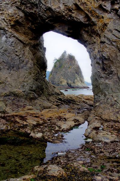 Hole in the Wall at Rialto Beach, La Push, WA