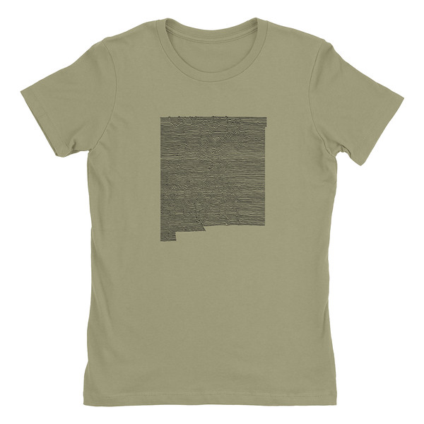 Organ Mountain Outfitters - Outdoor Apparel - Womens T-Shirt - New Mexico Mountain Range Tee - Light Olive.jpg