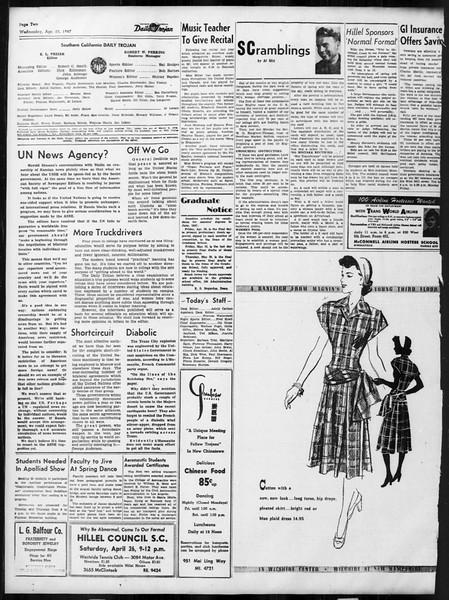 Daily Trojan, Vol. 38, No. 120, April 23, 1947