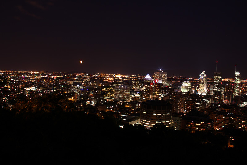 Sept. 14/11 - Montreal at night, taken from Mont Royal Chalet lookout at top of Mont Royal
