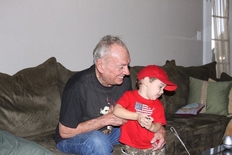 Being tickled by Grandpa Roy