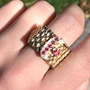 .38ctw Antique Diamond and Ruby Buckle Ring 1