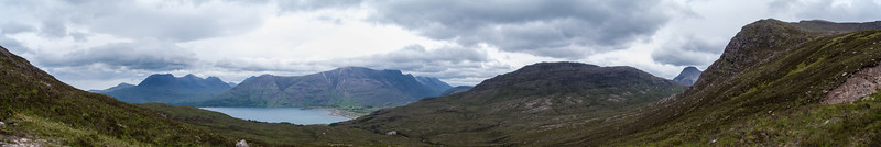 Panorama from around 1200 feet.  Ben Damh is up to the right.