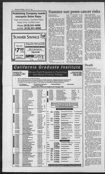 Summer Trojan, Vol. 128, No. 3, May 29, 1996