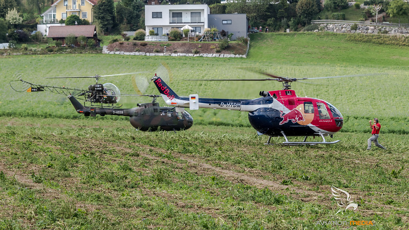 Flying Bulls & Private & Private / MBB Bo105C & MBB Bo-105 & Bell 47G / D-HTDM & D-HEER & D-HWAL