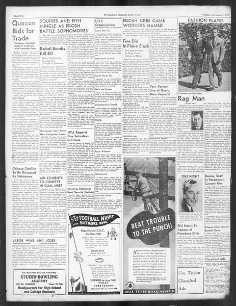 Daily Trojan, Vol. 29, No. 34, November 04, 1937