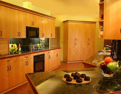 Euro Galley Kitchen in Maple and Sapele