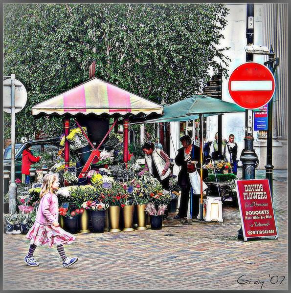 Young Eliza Doolittle   Flower stall, Banbury