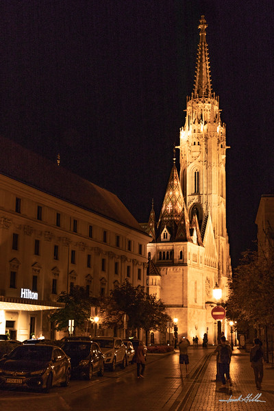 Lights on Matthias Church