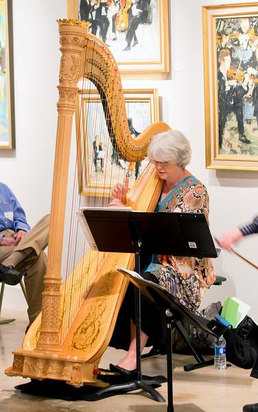 Emily playing harp
