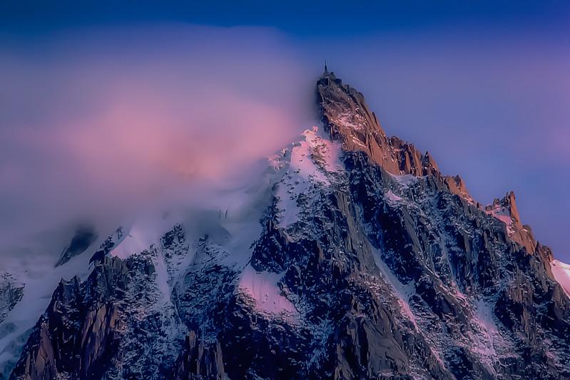 Aiguille du Midi- taken from Chamonix, France