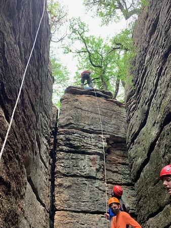April Campout - Climbing & Rappelling