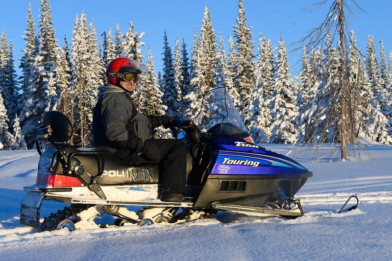 Snowmobiling around Sunpeaks Ski Resort