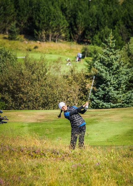Hulda Clara Gestsdóttir.  Íslandsmót golf 2019 Grafarholt - 1. keppnisdagur. Mynd: seth@golf.is