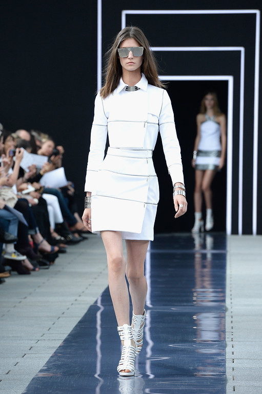 . PARIS, FRANCE - SEPTEMBER 29:  A model walks the runway during Maxime Simoens  show as part of the Paris Fashion Week Womenswear Spring/Summer 2014 at Orangerie du Parc Andre Citroen on September 29, 2013 in Paris, France.  (Photo by Pascal Le Segretain/Getty Images)