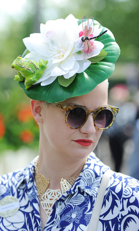 . A Racegoer attends Day 1 of Royal Ascot at Ascot Racecourse on June 17, 2014 in Ascot, England.  (Photo by Stuart C. Wilson/Getty Images)