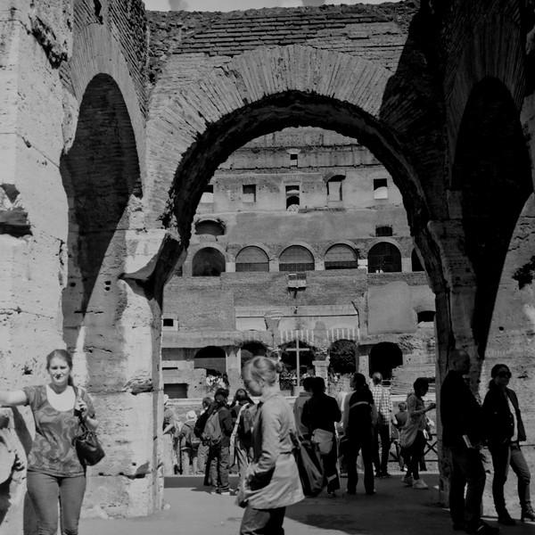 Colosseum in Rome 1:Italy beyond 70mm. Photographs taken on 80mm (Medium format film)