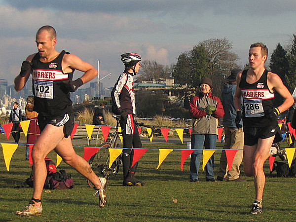 2005 Canadian XC Championships - Dave Milne and Kyle Jones