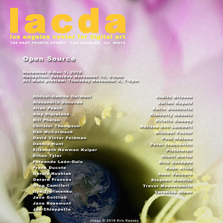 "07.11.2018 - next ""Open Source"" exhibition at LACDA!"