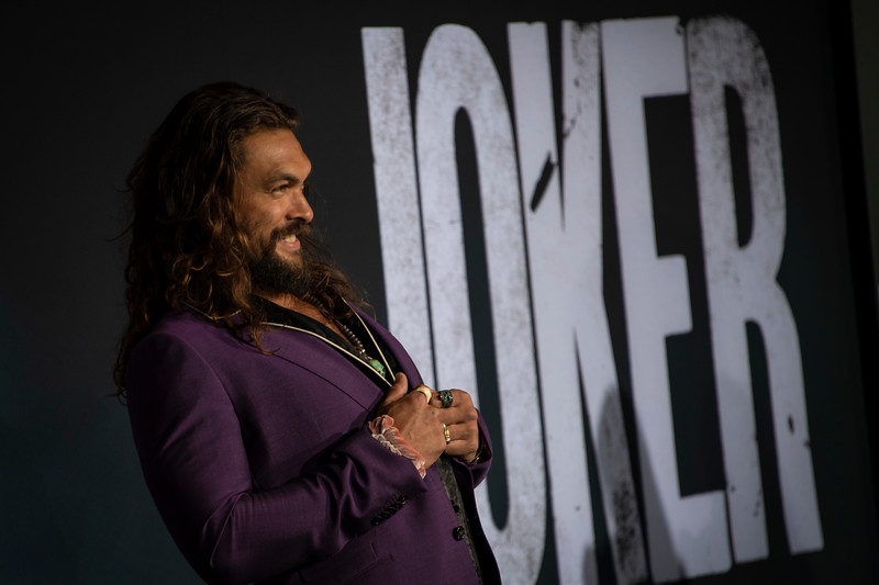 """HOLLYWOOD, CALIFORNIA - SEPTEMBER 28: Jason Momoa attends the premiere of Warner Bros Pictures """"Joker"""" on Saturday, September 28, 2019 in Hollywood, California. (Photo by Tom Sorensen/Moovieboy Pictures)"""