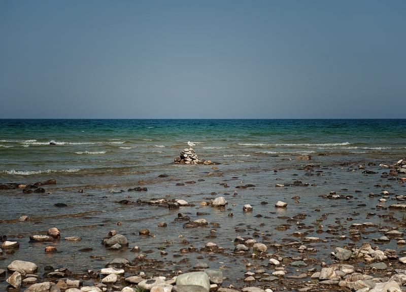 042 Michigan August 2013 - Grand Traverse Lighthouse Shore DrkLitCent.jpg