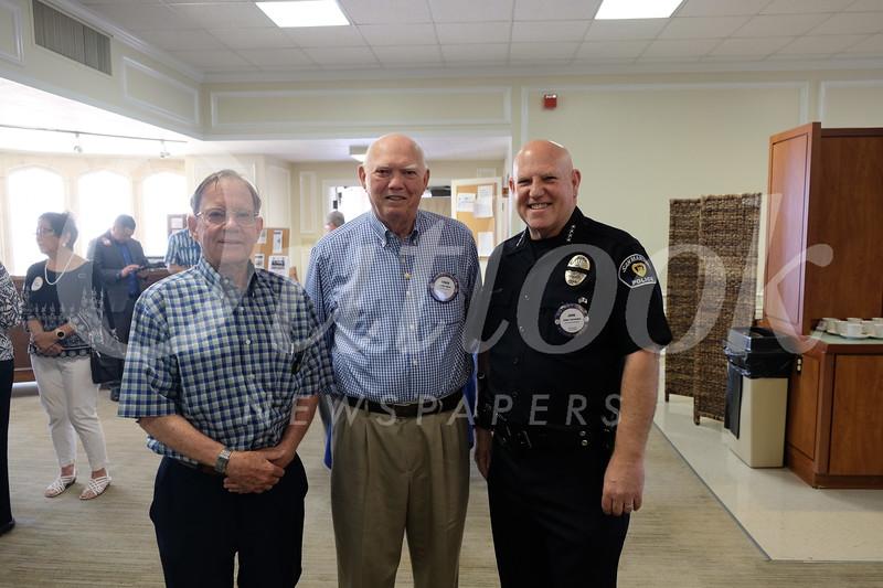 Wayne Carter, Chuck Miller and Police Chief John Incontro