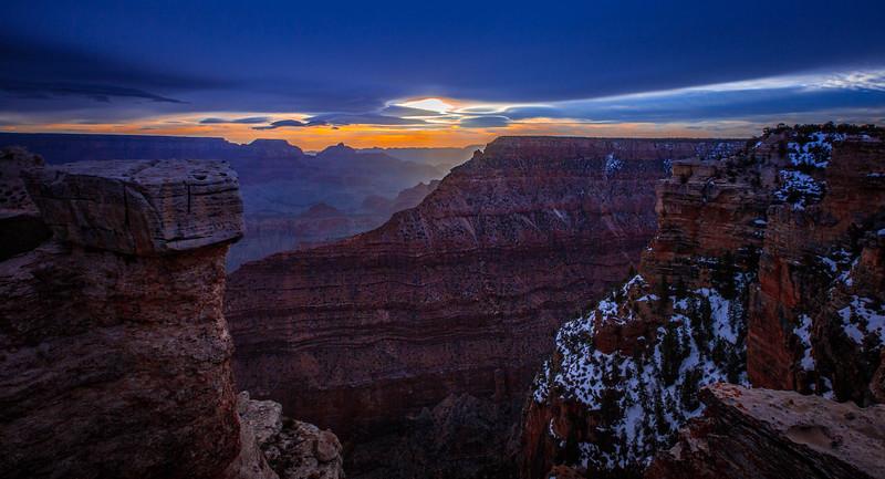 Winter Sunset - Grand Canyon