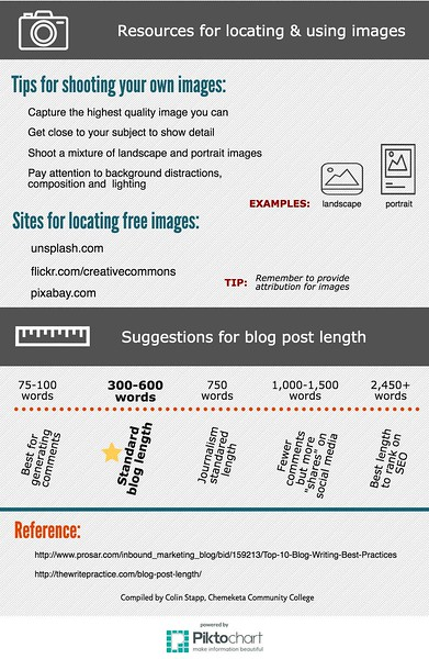 Blogging Tips Infographic