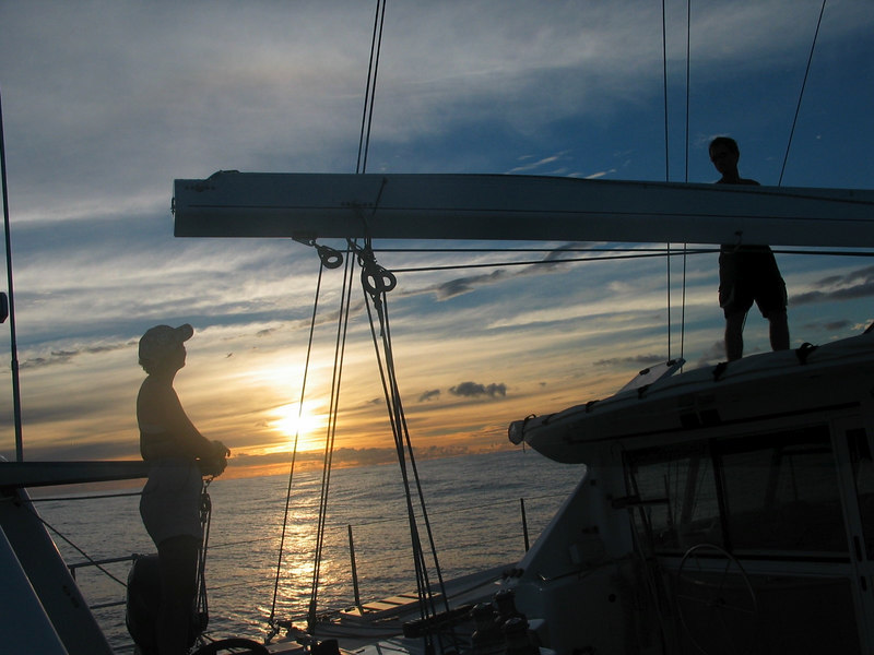Sailing from Bora Bora to Hawaii -- Vanessa and Callum