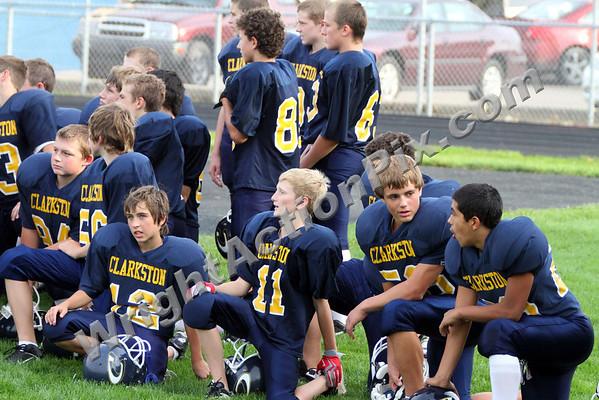 2010 09 21 Clarkston CJHS  8th Grade Gold Football vs Pontiac