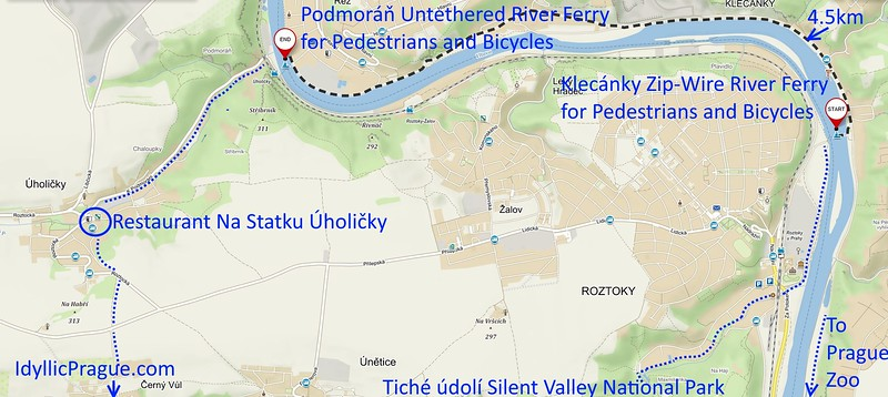 Directions to Podmoráň Untethered River Ferry