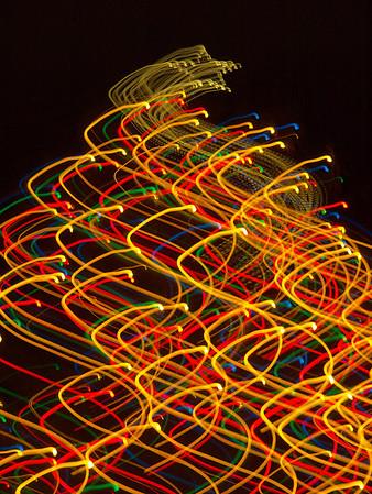 Hudson Ohio Abstract Holiday Lights