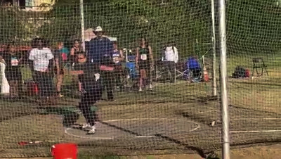 170402 GRANADA'S EMILY MARCH BREAKS 17 YEAR OLD GHS RECORD THROWING 150'5""